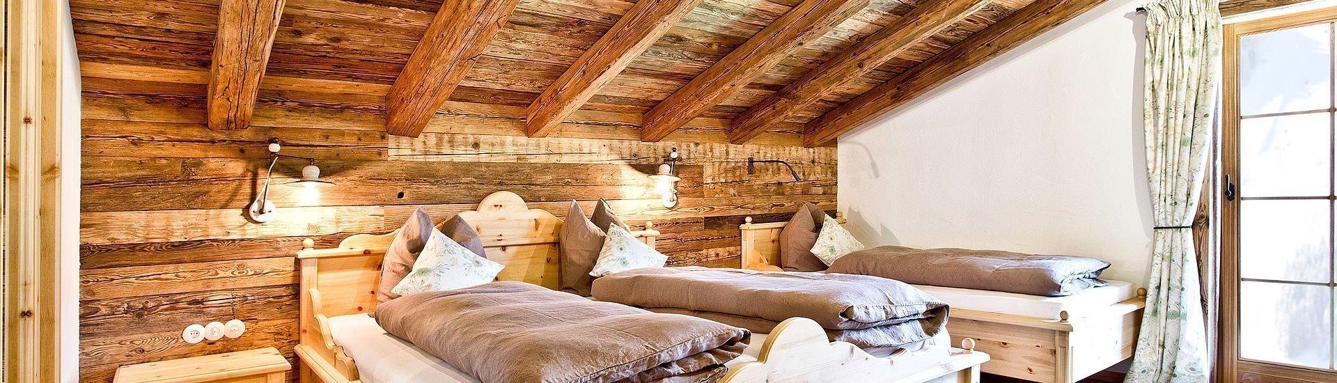 Schlafzimmer in der Hütte | Saalbach
